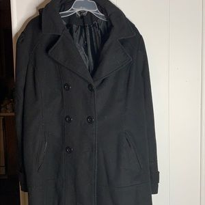 Woman's black trench coat